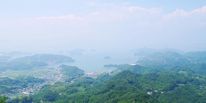 오사키카미지마 간노미네 산부터의 경치