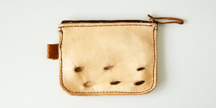 다케하라에 사는 야생의 사슴의 가죽을 사용한 가죽 세공 제품