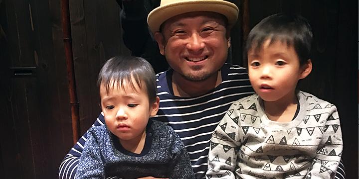 다카노씨와 2명의 아들